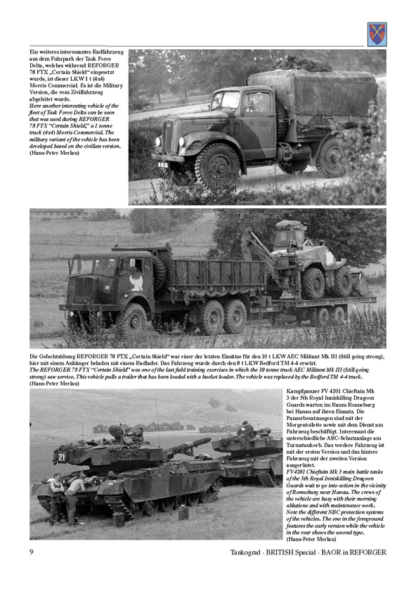 Baor In Reforger Vehicles Of The British Army Of The